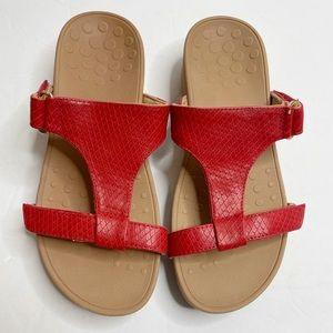 Vionic Red Ellie Sandal Flip Flops